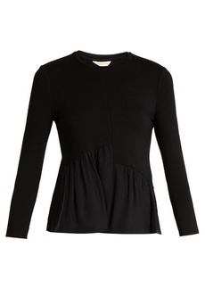 Rebecca Taylor Gathered-hem jersey top