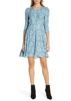 Rebecca Taylor Gianna Floral Silk Dress