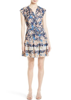 Rebecca Taylor Gig Mix Floral Silk Dress