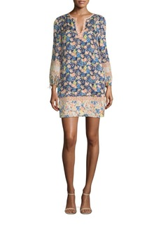 Rebecca Taylor Gigi Floral Printed Silk Dress