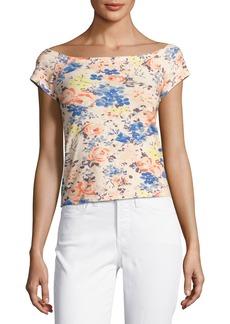 Rebecca Taylor Gigi Off-The-Shoulder Floral-Print Top