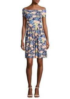 Rebecca Taylor Gigi Off-The-Shoulder Jersey Dress