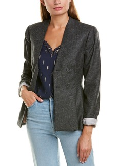 Rebecca Taylor Herringbone Wool & Silk-Blend Jacket