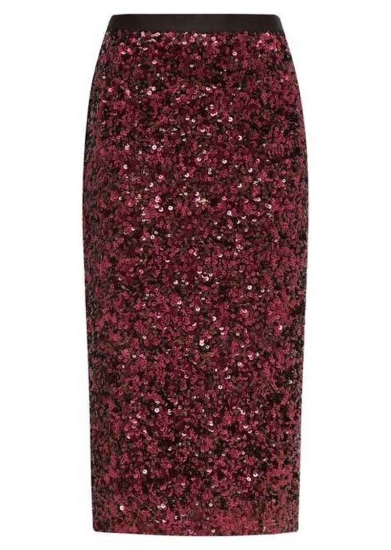 Rebecca Taylor High-rise sequinned pencil skirt