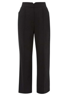 Rebecca Taylor High-rise twill trousers