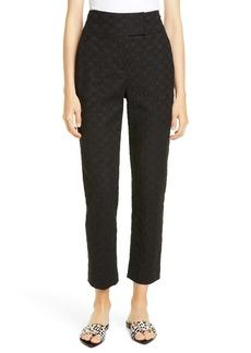 Rebecca Taylor High Waist Jacquard Pants
