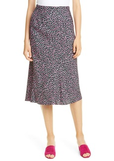 Rebecca Taylor High Waist Wild Rose Print Skirt