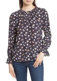 Rebecca Taylor Holly Flower Silk Blouse