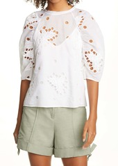 Rebecca Taylor Honeysuckle Eyelet Top
