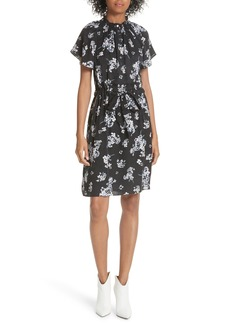 Rebecca Taylor Hydrangea Silk Dress