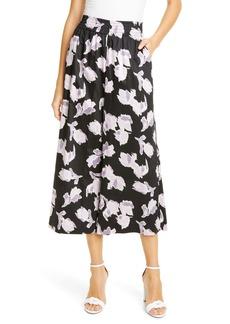 Rebecca Taylor Ikat Blossom Crop Wide Leg Pants