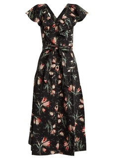 Rebecca Taylor Ikat floral-print cotton dress