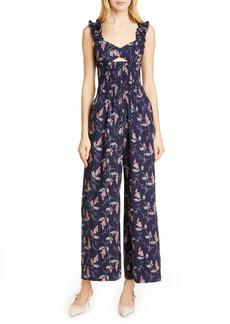 Rebecca Taylor Ivie Floral Cotton Jumpsuit