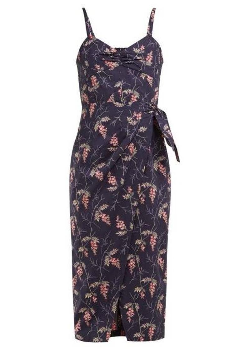 Rebecca Taylor Ivie floral-print cotton midi dress