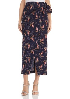 Rebecca Taylor Ivie Floral-Print Faux-Wrap Skirt