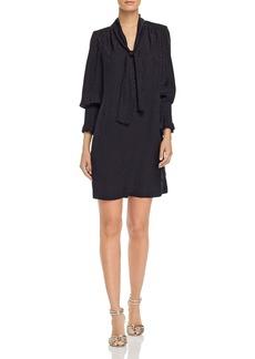 Rebecca Taylor Jacquard Cheetah-Print Dress