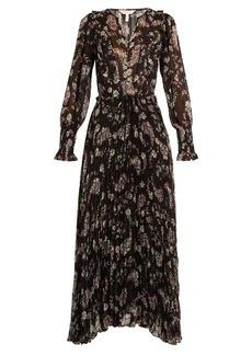 Rebecca Taylor Jewel floral-print striped chiffon dress