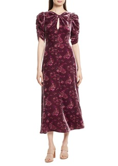 Rebecca Taylor Jewel Velvet Midi Dress