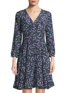 Rebecca Taylor Juliet Long-Sleeve Fit & Flare Silhouette
