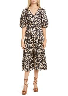 Rebecca Taylor Kaleidoscope Puff Sleeve Dress