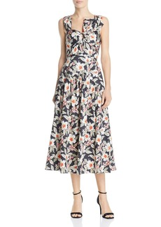 Rebecca Taylor Kamea Bow-Detail Midi Dress