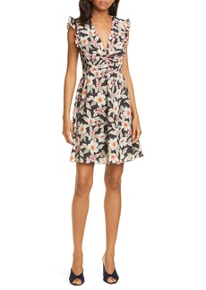 Rebecca Taylor Kamea Floral Print Fit & Flare Dress