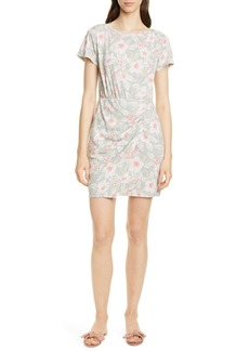 Rebecca Taylor Kamea Ruched Detail Cotton Jersey Dress