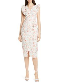 Rebecca Taylor Kamea Wrap Style Cotton & Linen Dress