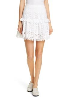 Rebecca Taylor Karina Cotton Eyelet Skirt