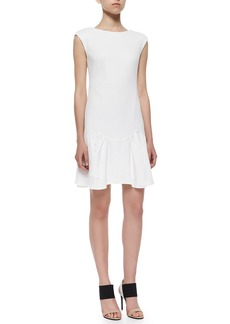 Rebecca Taylor Knit Pique Flare-Skirt Dress