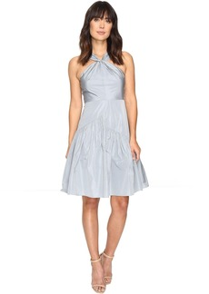 Knot Neck Taffeta Dress
