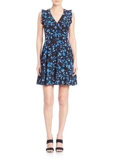 Rebecca Taylor Kyoto Floral Silk Dress