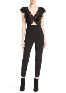 Rebecca Taylor Lace & Silk Jumpsuit