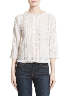Rebecca Taylor Lace & Voile Top