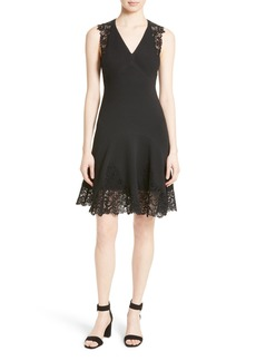 Rebecca Taylor Lace Back A-Line Dress