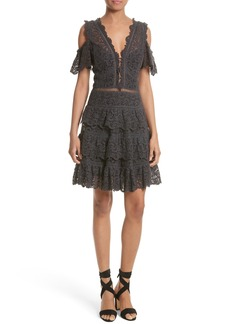 Rebecca Taylor Lace Cold Shoulder Dress