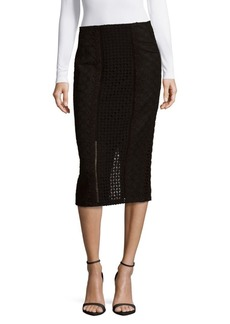 Rebecca Taylor Lace Crochet Pencil Skirt