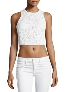Rebecca Taylor Lace Cropped Tank