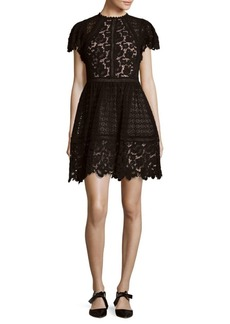 Rebecca Taylor Lace Mix Cotton Dress