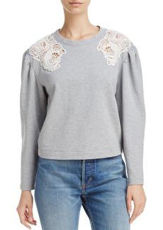 Rebecca Taylor Lace Trim Sweatshirt