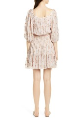 Rebecca Taylor Leander Metallic Floral Silk Blend Dress