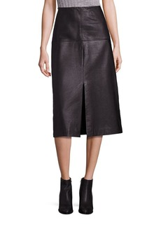Rebecca Taylor Leather A-Line Skirt