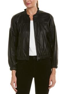 Rebecca Taylor Leather Bomber Jacket