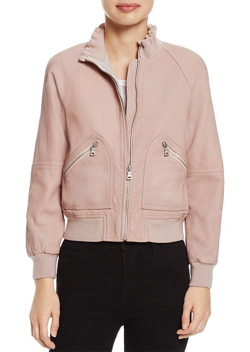540c79612 Leather Bomber Jacket