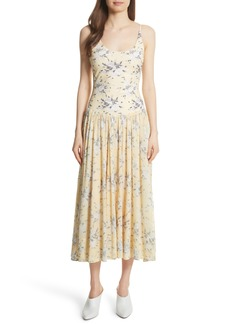 Rebecca Taylor Lemon Rose Jersey Midi Dress