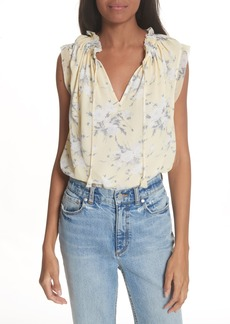 Rebecca Taylor Lemon Rose Silk Top