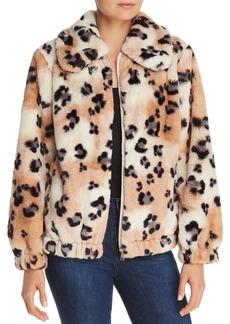 Rebecca Taylor Leopard Faux-Fur Coat