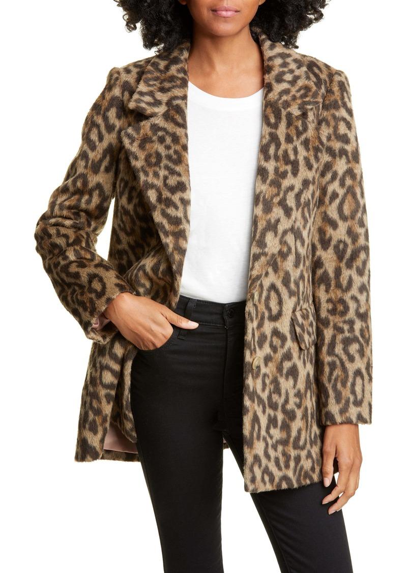 Rebecca Taylor Leopard Print Coat