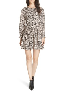 Rebecca Taylor Leopard Print Silk Dress