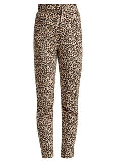Rebecca Taylor Leopard-print slim-leg trousers